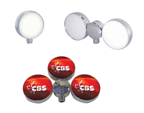 80MM ROUND PLUG & PLAY LED LIT MEDALLION HOLDERS