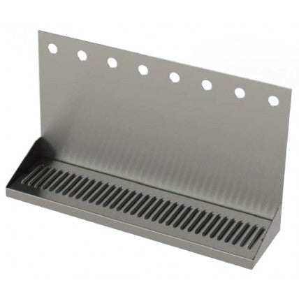 STAINLESS STEEL WALL MOUNTED DRIP TRAYS - WITH DRAIN