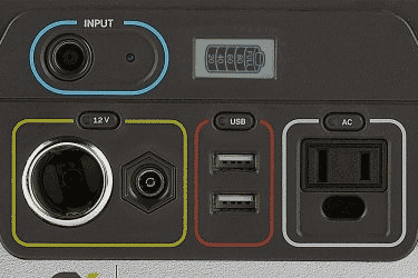 Goal Zero Yeti 150 Portable Power Outputs