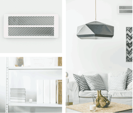 Keen Smart Vents Works with ecobee lifestyle image of vents and sensors