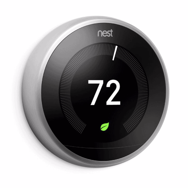 The 3rd Gen Nest Learning thermostat learns your schedule, saving you energy while you're away.