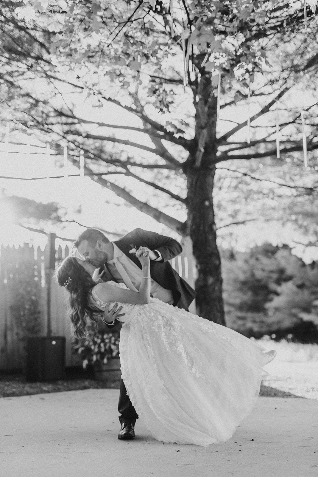 Blair and Zach Wedding in Black and White