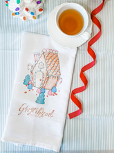 Load image into Gallery viewer, Gingerbread House Tea Towel