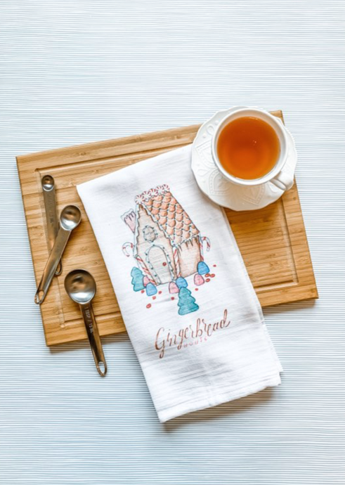 Gingerbread House Tea Towel
