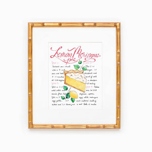 Lemon Meringue Pie Recipe Print