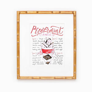 Peppermint Bark Recipe Print