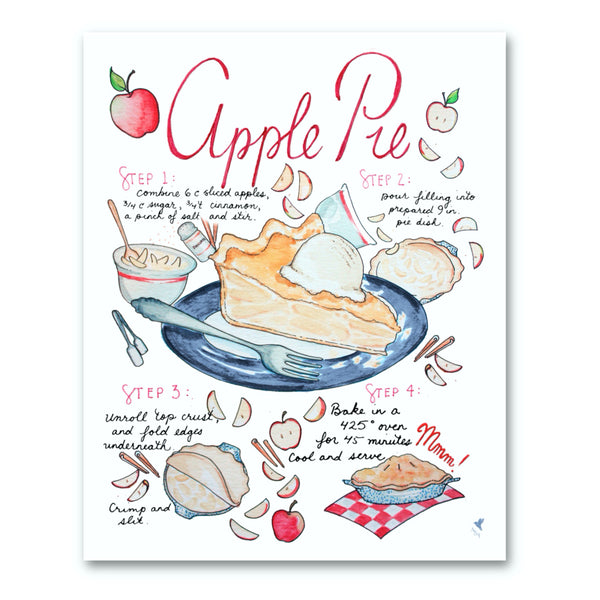 Apple Pie Recipe Illustration