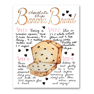 Banana Bread Recipe Print