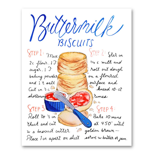 Buttermilk Biscuit Recipe Illustration