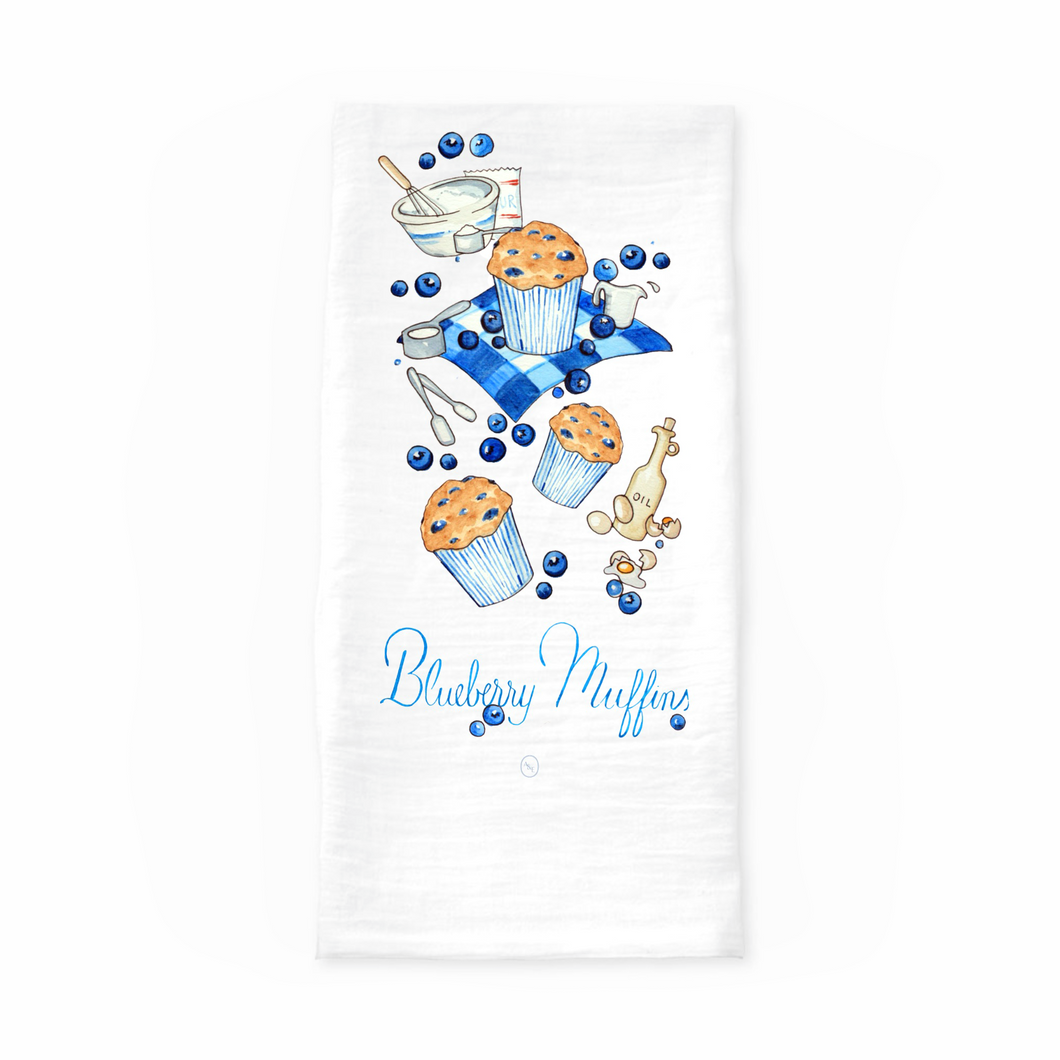 Blueberry Muffin Tea Towel