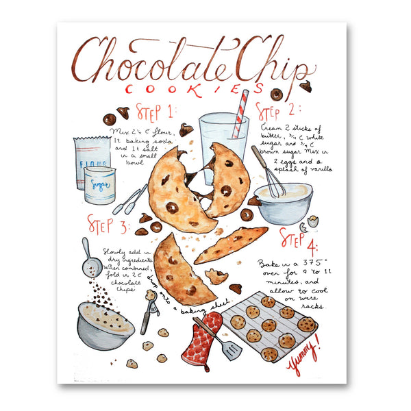 Chocolate Chip Cookie Recipe Illustration