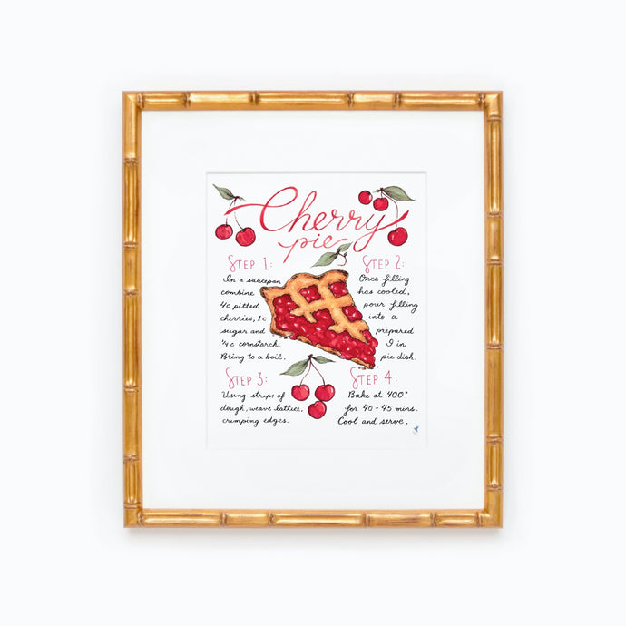 Cherry Pie Recipe Print