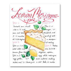 Lemon Meringue Pie Recipe Illustration