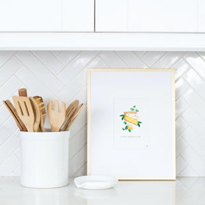Lemon Meringue Pie Mini Print