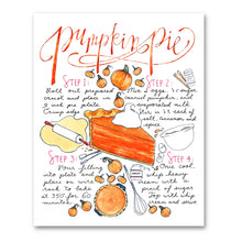 Load image into Gallery viewer, Pumpkin Pie Recipe Print