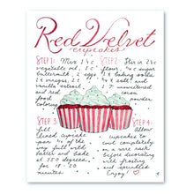 Load image into Gallery viewer, Red Velvet Cupcake Recipe Print