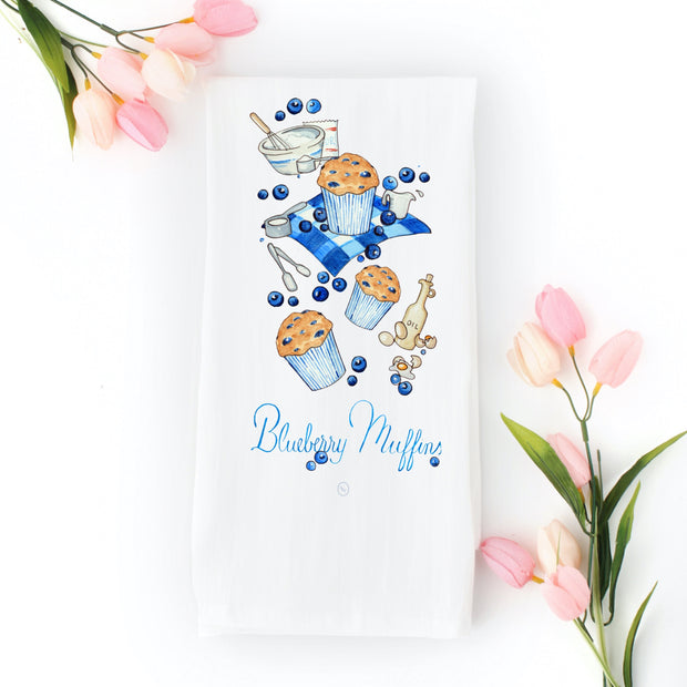 Blueberry Muffin Tea Towel 1