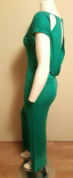 Green Backless Jumpsuit Size Small - Fits Up to a Size Medium/Large (10/12)