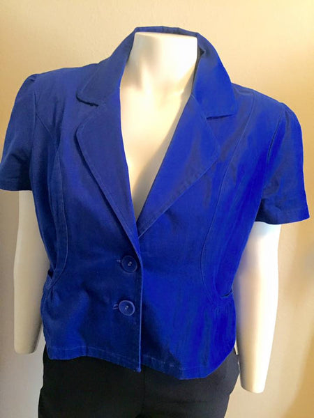 Cato Blue Short Sleeve Blazer Size XL