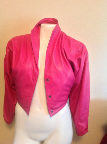 Bright Pink Size Small - will fit a Medium - 100% Genuine Leather Jacket