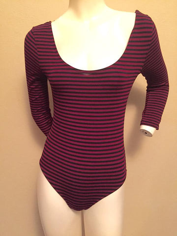Forever 21 Striped Bodysuit Size Medium - Fits like a Small