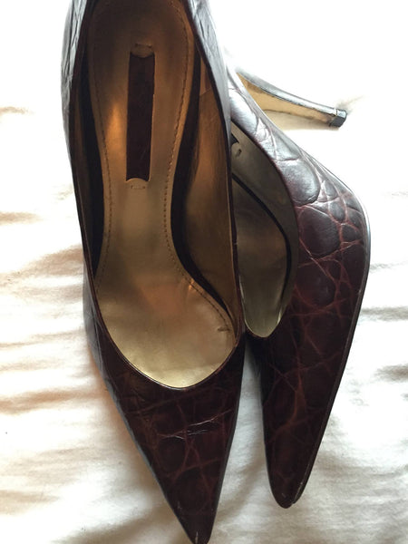 Size 7.5 Nine West Brown Pumps