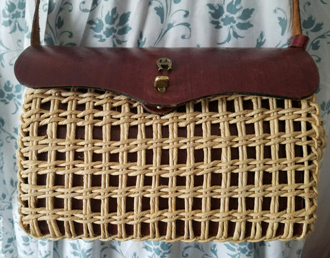 Authentic Etienne Aigner vintage straw purse