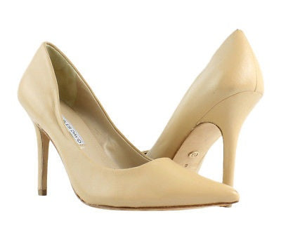 Charles David (Nude) Beige Leather Pumps Size 8