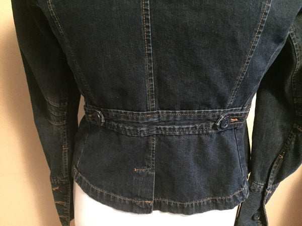 Size 10 Denim Peplum Jacket