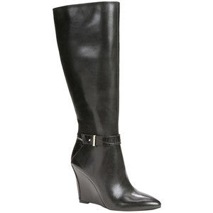Ann Taylor 100% Leather Finley Wedge Boots Size 8