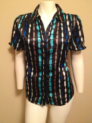 Ashley Stewart Size 14/16 Button Up Blouse