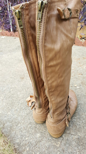 Charlotte Russe Tan Knee High Boots Size 10