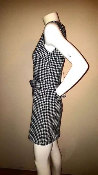 Ann Taylor Loft Houndstooth Dress with Belt Size0P