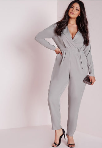 Missguided Gray Jumpsuit New in Tags in Original Packaging Size 16