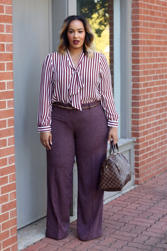 Chico's Size 3 Violet Wide Leg Pants - Fits Like a 16/18