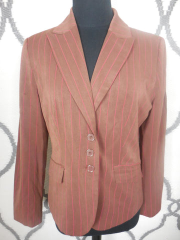 Brown Suit w/Red Pinstripes SIZE 10