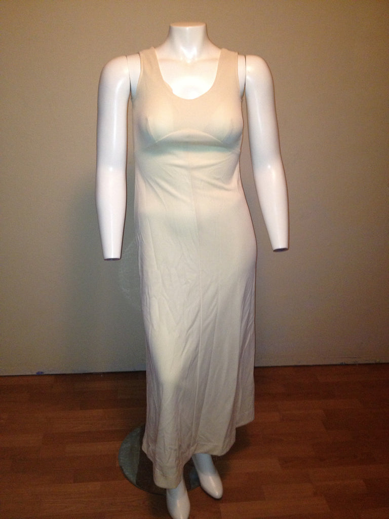 Beige Vintage Maxi Dress - Fits up to a Size 10/12