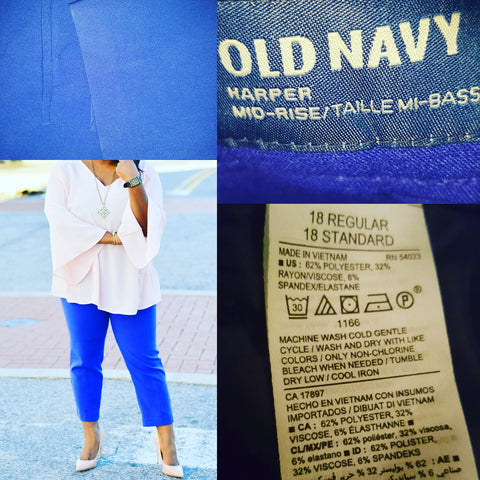Old Navy Harper Blue Pants Size 18