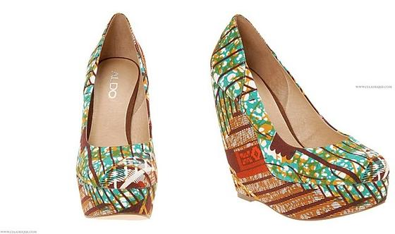 Aldo Ethnic Tribal Print Wedges Size 39