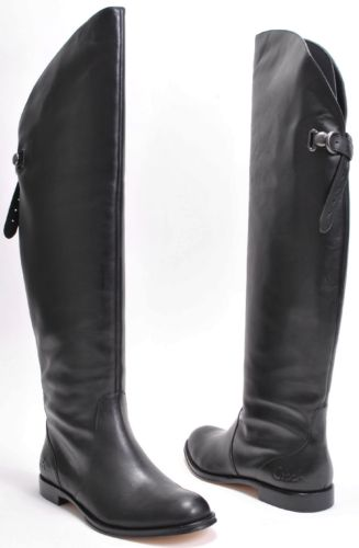 Coach Cheyenne Black Leather Boots  Size 9