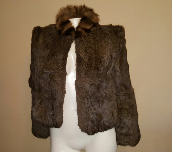 100% Real Fur Coat Size Large