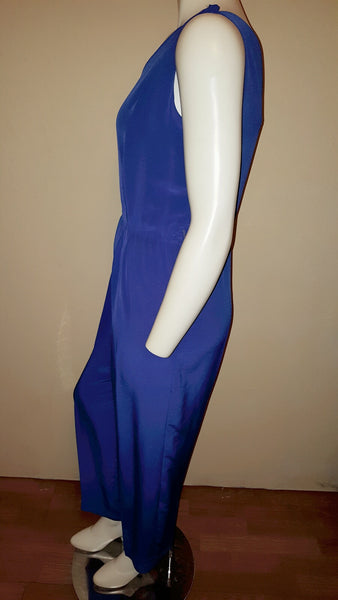 Desiree New York Blue Jumpsuit Size 15/16 Runs Small Fits Like a Size 12/13