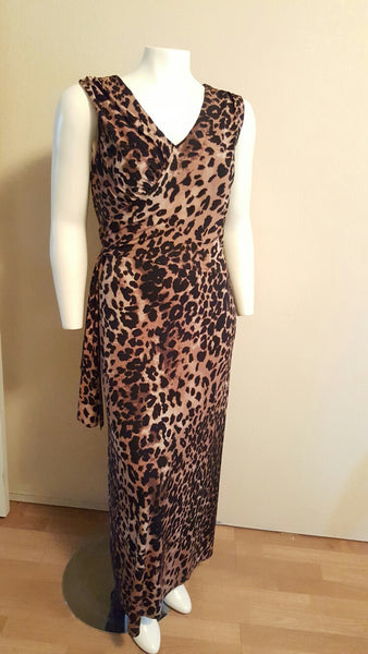 Jessica London Animal Print Maxi Dress Size 18