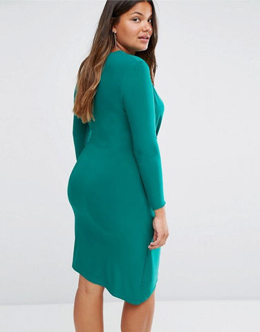 ASOS CURVE Jade Green Bodycon Dress Size 20 - New with Tags