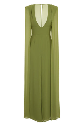 Lavish Alice Light Green Cape Jumpsuit