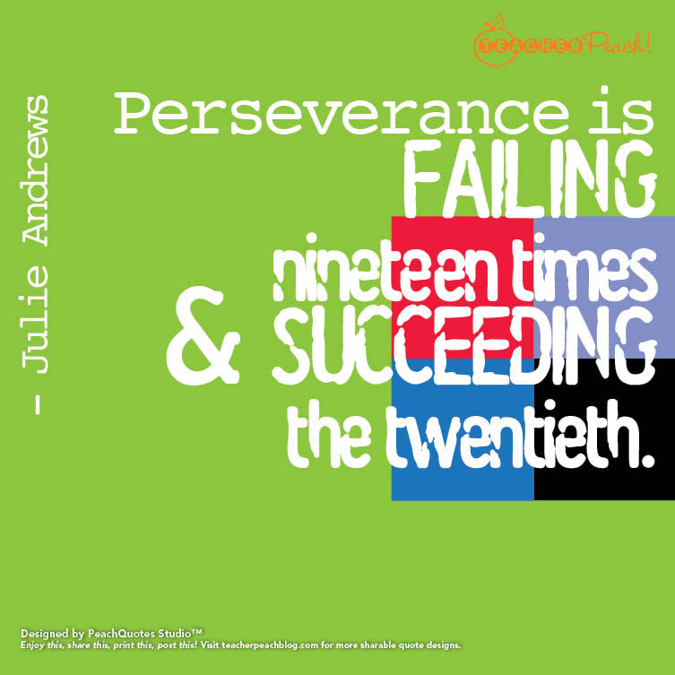 Perseverance: A Must for Teachers and Students Alike
