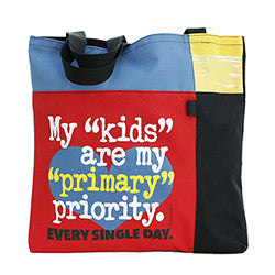 Primary Priority Flat-Style Tote Bag
