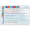 Holiday Homework Positive Postcard Pack of 50