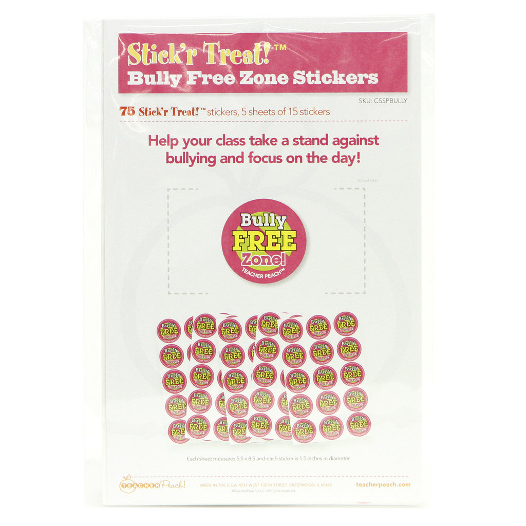 Stick'r Treat Bully Free Stickers 5 Sheet Pack