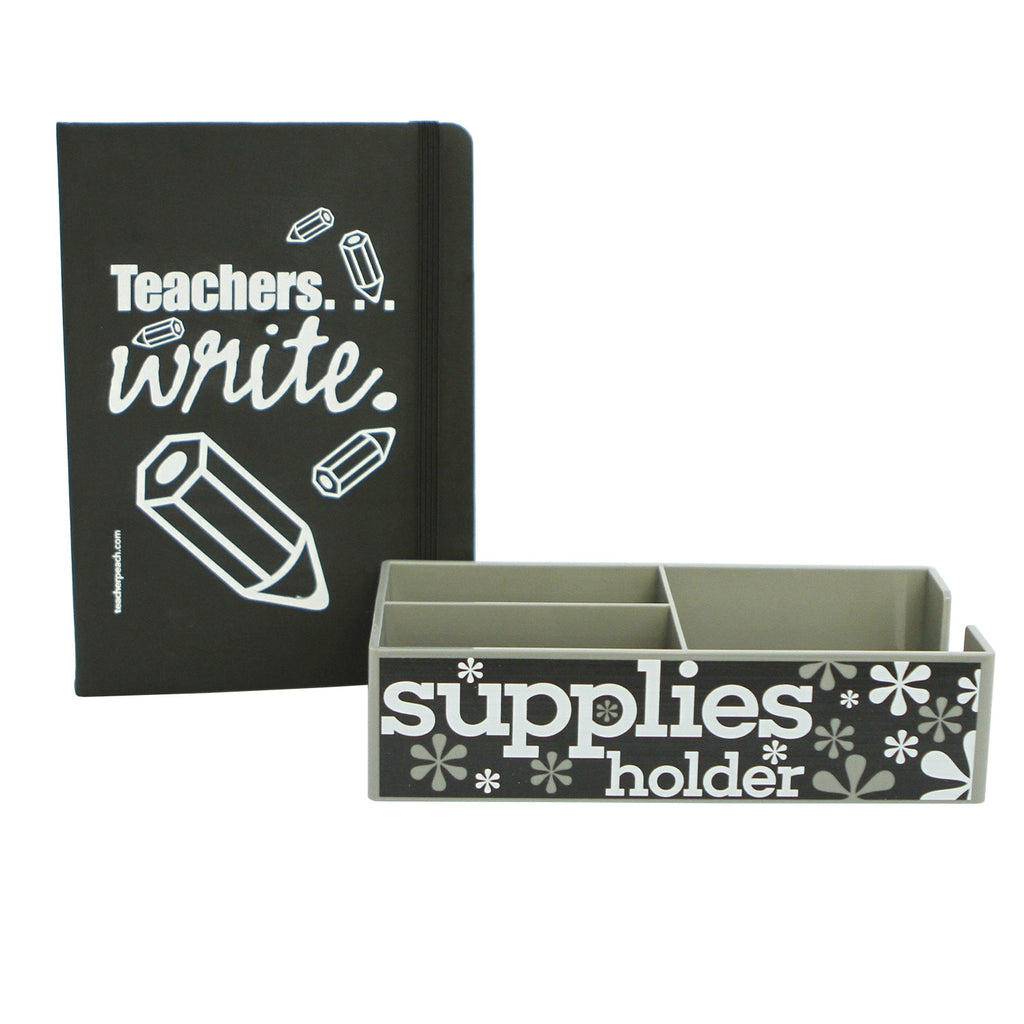 "Supplies Holder and ""Teachers Write"" Journal Duo Gift Set"